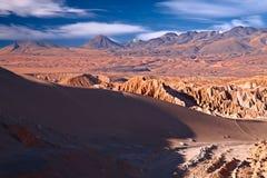 Valle DE La Muerte (de Vallei van de Dood), Chili Stock Foto