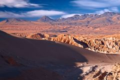 Valle de la Muerte (Death Valley), Chili Photo stock