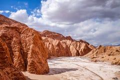 Valle de la muerte em San Pedro de Atacama, o Chile fotografia de stock