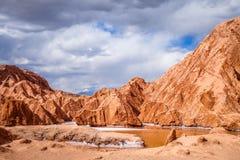 Valle de la muerte em San Pedro de Atacama, o Chile imagem de stock royalty free