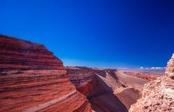 Valle de la muerte por San Pedro de Atacama no Chile foto de stock royalty free