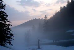 Valle de la niebla Foto de archivo