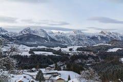 Valle de la nieve Fotografía de archivo