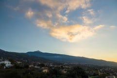 Valle de La Orotava and Puerto de la Cruz view Royalty Free Stock Photography
