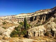 Valle de la paloma Uçhisar a Goreme, Turquía Imagen de archivo