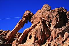 Valle de la roca del rojo del fuego Fotos de archivo libres de regalías