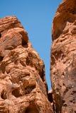 Valle de las formaciones de roca del fuego Fotografía de archivo