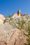 Valle de las formaciones de roca del fuego Fotografía de archivo libre de regalías