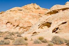 Valle de las formaciones de roca del fuego Imagen de archivo