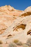 Valle de las formaciones de roca del fuego Fotos de archivo