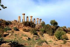 Valle de las ruinas griegas de los templos, Agrigento Italia Fotografía de archivo