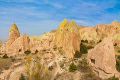 Valle de las torres de la roca de Cappadocia Foto de archivo libre de regalías