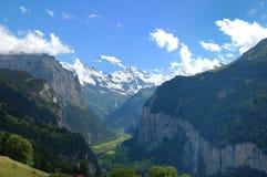 Valle de Lauterbrunnen Fotografía de archivo libre de regalías