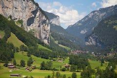 Valle de Lauterbrunnen Foto de archivo libre de regalías