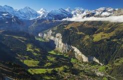 Valle de Lauterbrunnen Fotografía de archivo