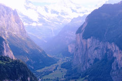 Valle de Lauterbrunnen (Suiza, Jungfrauregion) Fotos de archivo