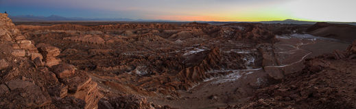 Valle de los angeles Luna, Cordillera De Los angeles Sal, Atacama pustynia, Chile zdjęcia royalty free