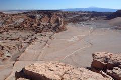 Valle de los angeles Luna lub księżyc dolina San Pedro De Atacama Chile obrazy stock
