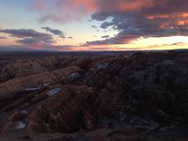 Valle de los angeles Luna w Atacama pustyni Chile obraz royalty free
