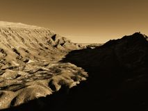 Valle de los angeles Luna w Atacama pustyni, unikalny widok podczas zima zmierzchu zdjęcie stock