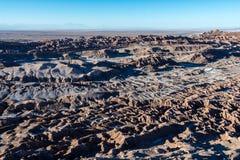 Valle De Los Angeles Muerte, Atacama pustynia - obraz stock