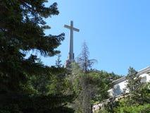 Valle de los Caidos, gravvalv av Francisco Franco San Lorenzo de El Escorial, Madrid, Spanien arkivfoton