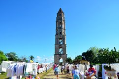 Valle de los ingenios; Iznaga, Cuba Immagine Stock Libera da Diritti