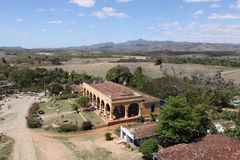 Valle de los ingenios top view, trinidad, cuba Stock Photo
