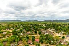 Valle de los Ingenios, Trinidad, Cuba. Panorama of Manaca Iznaga in the Valle de los Ingenios, Trinidad, Cuba Royalty Free Stock Image