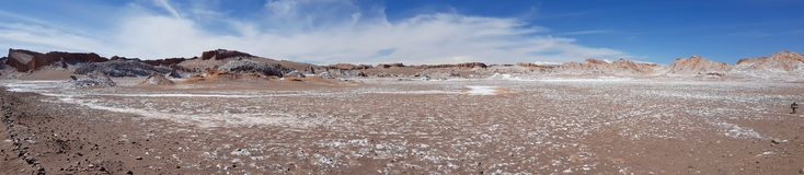 Valle de losu angeles Luna dolina księżyc w Atacama pustyni, Chile obraz royalty free