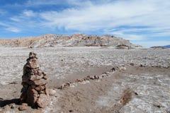 Valle de losu angeles Luna soli mieszkanie w Atacama, Chile Zdjęcie Royalty Free