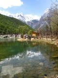 Vallée de lune bleue chez Lijiang Photographie stock libre de droits