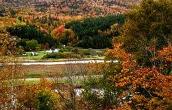 Valle de Margaree en otoño imágenes de archivo libres de regalías