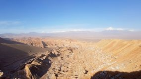????? ??? ?????? ??? ?????? ??? ???????? Valle de Marte, ?????? Atacama, ???? ??? ??? στοκ εικόνα