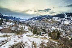 Valle de Megeve Foto de archivo libre de regalías