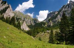 Vallée de montagne en Roumanie Photo libre de droits