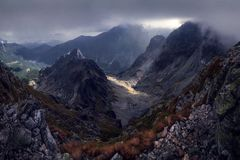 Valle de Mountans imagen de archivo libre de regalías