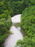 Valle de Nishizawa en Yamanashi, Japón foto de archivo