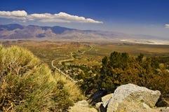 Valle de Owens de arriba Imágenes de archivo libres de regalías