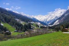 Valle de Pflersch en las montañas europeas Fotografía de archivo libre de regalías