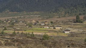 Valle de Phobjikha Reino de Bhután Fotografía de archivo libre de regalías
