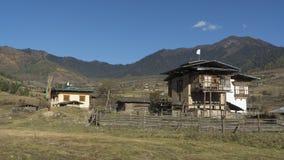 Valle de Phobjikha Reino de Bhután Foto de archivo