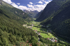 Valle de Pitztal en el Tirol Foto de archivo