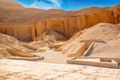 Valle de reyes Las tumbas de los pharaohs Tutankhamun Luxor foto de archivo libre de regalías