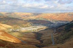 Valle de Rhondda, País de Gales Foto de archivo