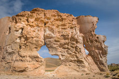 Valle de rocas σχηματισμοί βράχου, Altiplano Βολιβία Στοκ Εικόνες
