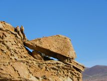 Valle de Rocas, Altiplano, Bolivia Royalty Free Stock Photos