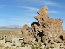 Valle de Rocas, Altiplano, Bolivien Lizenzfreie Stockfotografie