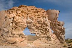 Valle de rocas vaggar bildande, Altiplano Bolivia Arkivbilder