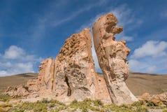 Valle de rocas vaggar bildande, Altiplano Bolivia Fotografering för Bildbyråer